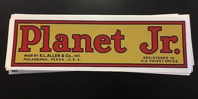 """Planet Jr. Decal Walking Tractor BP1 Plow 10 1/4"""" Gold Red Black"""