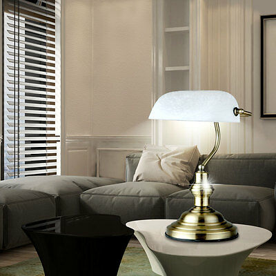 LED Antique Writing Office Reading Table Lamp Bänker Dinner Room Antique brass