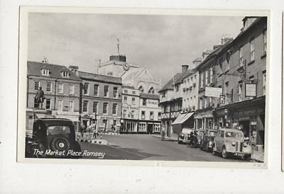 The Market Place Romsey 1959 RP Postcard 892a
