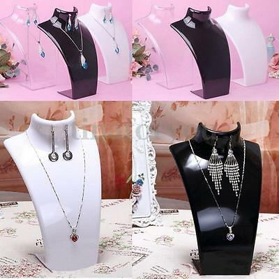 Plastic Neck Busts Earring Necklace Pendant Jewelry Display Stand Holder Rack