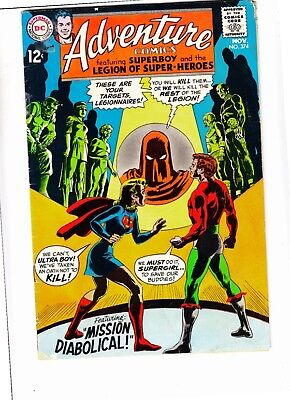Adventure Comics #374 strict VG 4.0  Legion of Super-Heroes huge run just posted