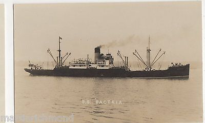 S.S. Bactria Shipping Real Photo Postcard, B555