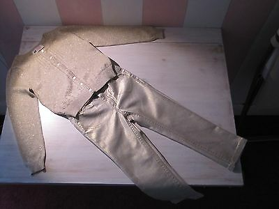 Gils H&M Gold Outfit Set  PERFECT  CONDITION  Age:2-3