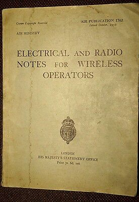 Air Ministry Electrical & Radio Notes for Wireless Operators WW2 RAF