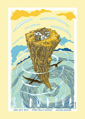 Slowdive Concert Poster Limited Edition Screen Print By Sabrina Gabrielli
