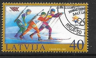 Latvia Sg575 2002 Winter Olympic Games Fine Used