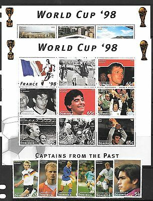 Dominica Sg2337/58 1997 World Cup Football Sheetlets & Stamps Mnh