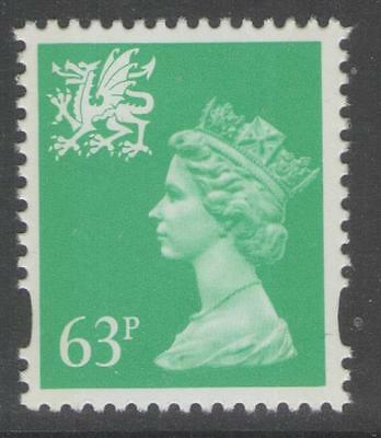 WALES SGW78 1996 63p LIGHT EMERALD MNH