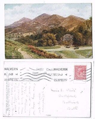 Post Card Art Card By A R Quinton Of The Malvern Hills From The British Camp