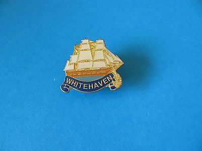 WHITEHAVEN Tall Ship Pin badge, Good Condition.