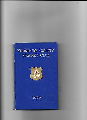 Yorkshire County Cricket Club YearBook 1939