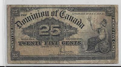 Canada 25 Cent Banknote 1900