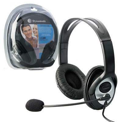 USB Dynamode Stereo Headset with Microphone with Mic and Remote Control