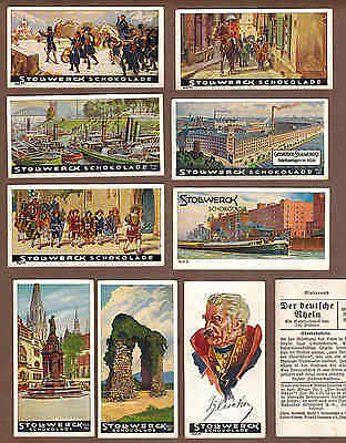 RHINE RIVER, GERMANY: Collection of 98 German STOLLWERCK CHOCOLATE Cards (1931)