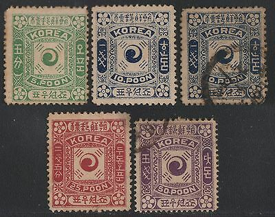 Korea 1895 - Lot in mixed quality - unused & used