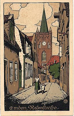 Old Postcard Deco Style Emden Germany Unposted