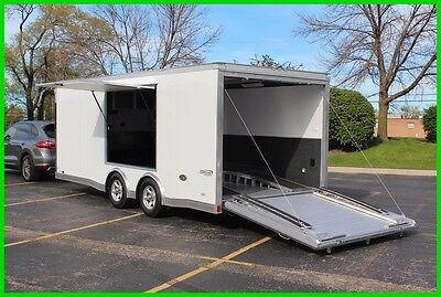 2017 ALUMINUM 8.5' x 20' ENCLOSED CARHAULER CARGO TRAILER W/ ESCAPE DOOR