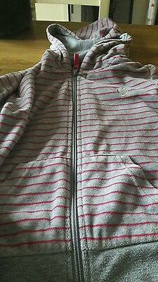 girls velour striped hoodie size 9/10 years
