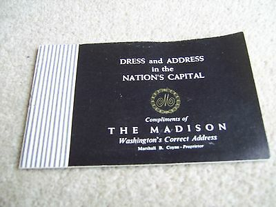 1960's Dress & Address in the Nation's Capital from The Madison Hotel Washington