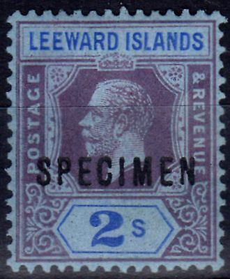 Leeward Islands 1922 2s Purple & Blue-Blue Specimen SG55s Fine Mtd Mint