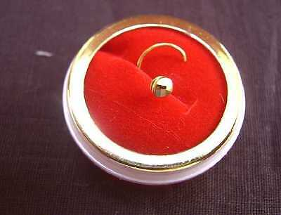 22k Real Pure Solid Gold Nose Pin Round Jewellery Sport Set Tribal Canada #39HJK