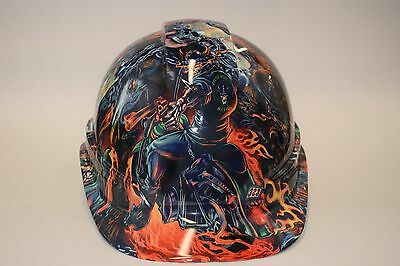Pyramex  Cap Style Hard Hat hydrodipped in Outlaw Biker 5 Gloss