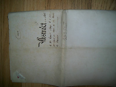 indenture abstract of  title of land in stoke.county of warwick.1880