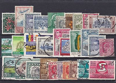 Ceylon Lot Of Used Stamps (#838)