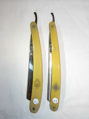 2) Puma Rasiermesser 2 Stück antique vintage german straight razor Solingen