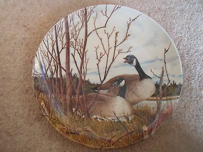 "Fabulous Countryside Scene ""Nesting"" Plate  by Donald Pentz 1986 - Geese"