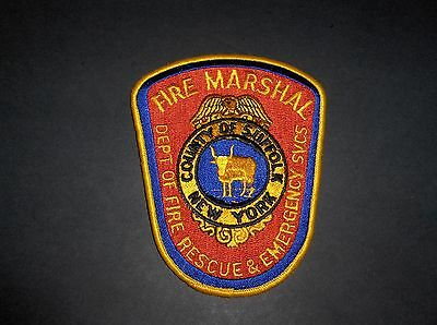 County Of Suffolk New York Fire Marshal Dept Fire Rescue Emergency Svcs Patch