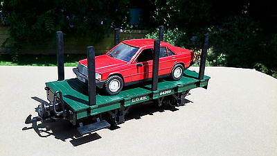 G gauge LGB small stake wagon with Mercedes Benz car - excellent condition