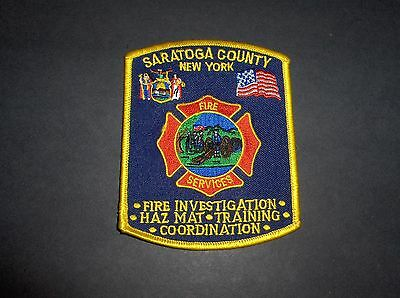 Saratoga County New York Fire Services Fire Department Patch
