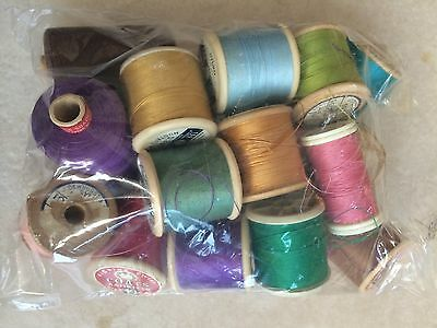 Job Lot of Vintage Thread/Cotton Reels - As Per Picture