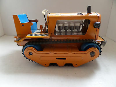 VINTAGE FUNKSTORGRAD N TINPLATE BULLDOZER / TRACTOR - Made in Germany