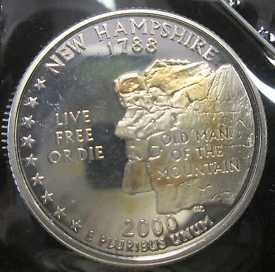 2000-S Proof Silver State Quarter- New Hampshire - B205