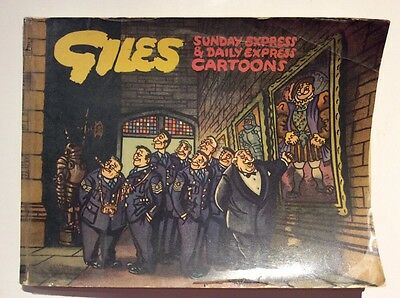 GILES ANNUAL 8th edition No 8 Daily Express cartoons c.1954