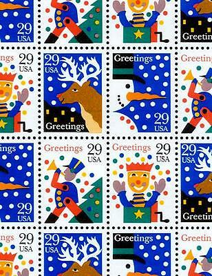 1993 - CHRISTMAS GREETINGS - #2791-94 Mint -MNH- Sheet of 50 Postage Stamps