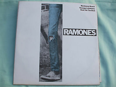 "Ramones - Rockaway Beach/Teenage Lobotomy/Beat On The Brat.1977 12"" Vinyl Single"