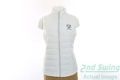 New Womens Cutter & Buck 2016 Ryder Cup Post Alley Vest Large L White MSRP $80