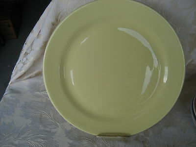 """Fantastic Luray Persian Yellow Chop Plate 14"""" Wide Made in 1947"""