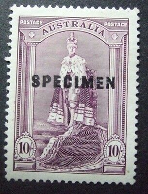 "Mint Australia 10/- "" Specimen "" Overprint Stamp  *free Post*"