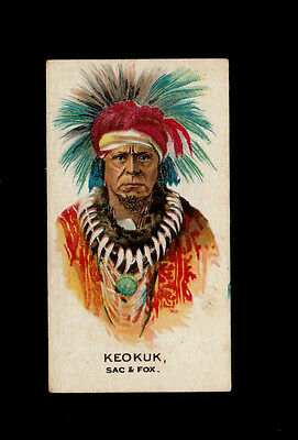 """B.a.t 1930 Scarce (Wild West Indian) Type Card # 23 Keokuk -- Indian Chiefs """""""