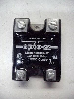 Opto 22 480D10-12 Quantity! 3-32Vdc 480Vac 10A Solid State Relay