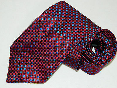 Men's Alfred Dunhill Red  Silk Neck tie Made in England