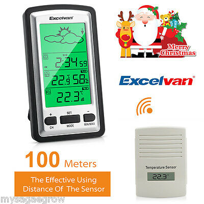 Excelvan LCD Digital Wireless Weather Station Temperature Humidity with Sensor