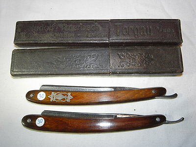 30) 2 alte Rasiermesser Solingen vintage antique german straight razor