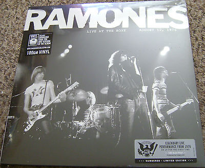 Ramones Live At The Roxy 1976, Limited Numbered Lp Black Friday 2016, New.