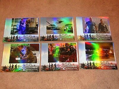 Fast And Furious 6 Movie Theater Promo Cards(India Release)Lot Of 6(New)Rare!
