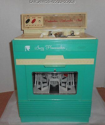 1967 Vintage Suzy Homemaker Battery Operated Dishwasher Sink Combo